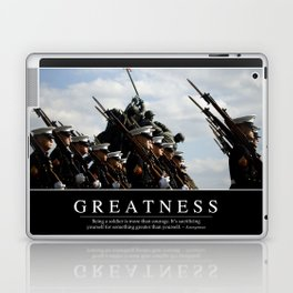 Greatness: Inspirational Quote and Motivational Poster Laptop & iPad Skin