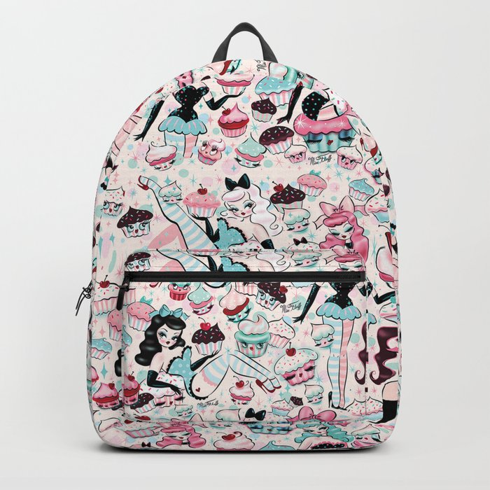 Cupcake Dolls Pattern Backpack