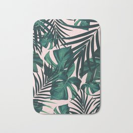 Tropical Jungle Leaves Pattern #5 #tropical #decor #art #society6 Bath Mat