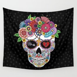 Lost Love BLACK Wall Tapestry