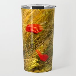 Poppys in the field Travel Mug