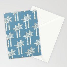 Palm Tree Pattern Blue 22 Stationery Cards