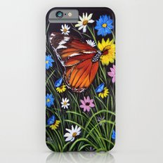 wild flowers and Butterflies iPhone 6s Slim Case