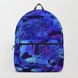 Blue violet cool brush Backpack