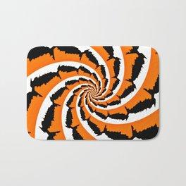 Tiger Stripe Fractal Bath Mat