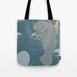 I'd like to be a manatee. In an octopus' garden in the shade Tote Bag
