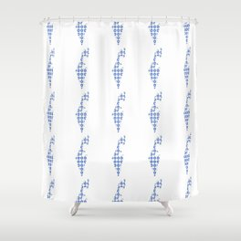 flag of israel 5- יִשְׂרָאֵל ,israeli,Herzl,Jerusalem,Hebrew,Judaism,jew,David,Salomon. Shower Curtain