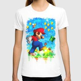Super Mario Van Gogh style T-shirt