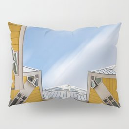Cube houses in Rotterdam Pillow Sham