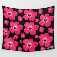 hibiscus Wall Tapestries featuring Hibiscus   by maggs326