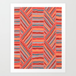 Cheerful Geo Pattern Art Print