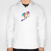 fairy tail Hoodies featuring Galaxy Fairy Tail Logo by ZipZapAttack