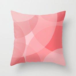 Pink circles Throw Pillow