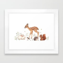 Woodland Friends Framed Art Print