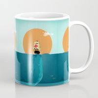 fish Mugs featuring fish  by mark ashkenazi