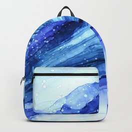 Cracked Blue Marble Backpack