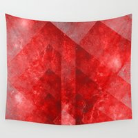 tits Wall Tapestries featuring Ruby Nebulæ by Aaron Carberry