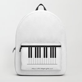 Music is the delight of the soul Backpack