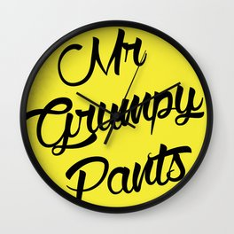 Mr Grumpy pants Wall Clock