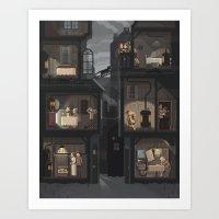 Scene #09: 'Cats' Art Print