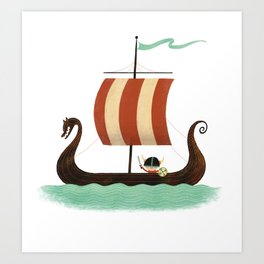 Viking Baby Art Print