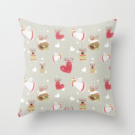 Christmas Elements Design Pattern 2 Throw Pillow