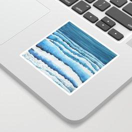 Watercolour waves crashing on the shore Sticker