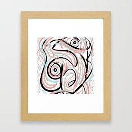 Swirly_Scrib Framed Art Print