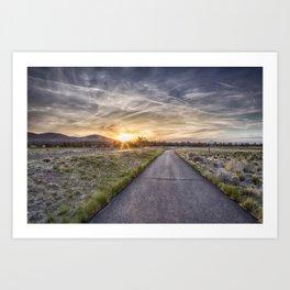 Sunset at Eagle Crest Art Print