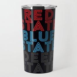 Red State Blue State Deep State Travel Mug