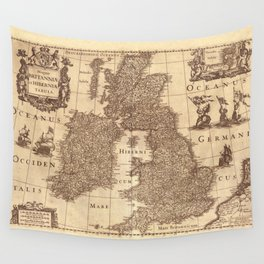 Map Of Great Britain 1631 Wall Tapestry