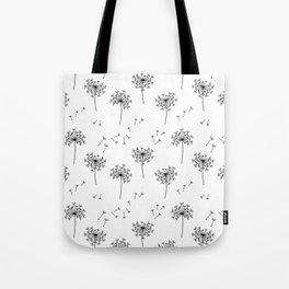 Dandelions in Black Tote Bag