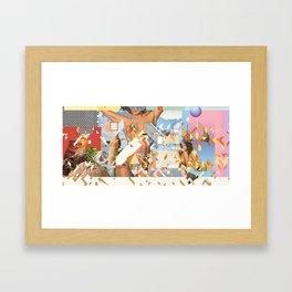CAT / CRUSH / GIRL Framed Art Print