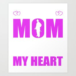 Firefighters Mom Full Heart Mothers Day T-Shirt Art Print