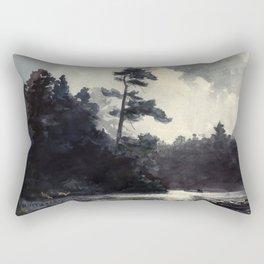Adirondack Lake by Winslow Ho mer (1889) Rectangular Pillow