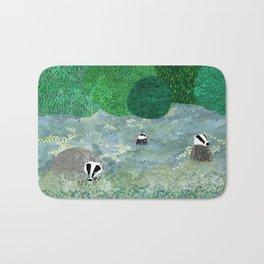 Badgers amongst the bluebells Bath Mat