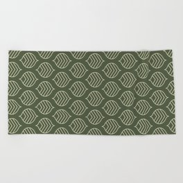 Olive Scales Beach Towel