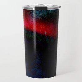 Aurora Borealis Red Moon By Marie Plourde Travel Mug