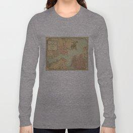 Vintage Norfolk and Portsmouth VA Harbor (1861) Long Sleeve T-shirt