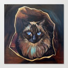 The Ragdoll Cat Is in the Bag Canvas Print