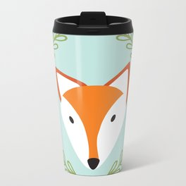 f o x Metal Travel Mug