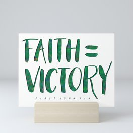 Faith is the Victory (St. Patrick's Version) Mini Art Print