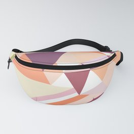 Modern abstract coral pink geometrical pattern Fanny Pack