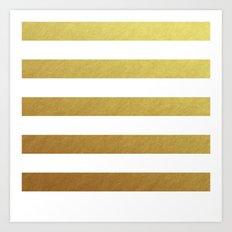 gold stripes Art Print