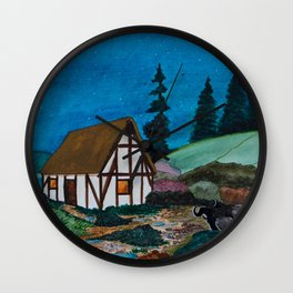 Unwelcome Visit Wall Clock