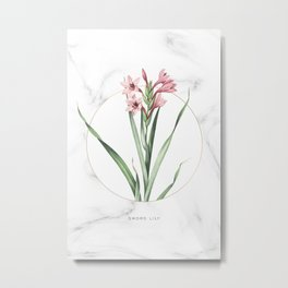 Sword Lily Flower Metal Print