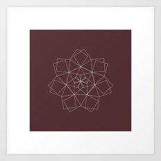 #337 Dragon star – Geometry Daily Art Print