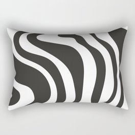Black and White Swirl Pattern Rectangular Pillow