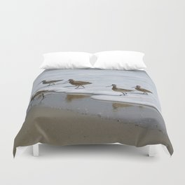Sandpiper Convention at Malibu Colony Duvet Cover