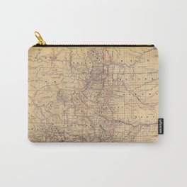 Colorado Vintage Map Carry-All Pouch